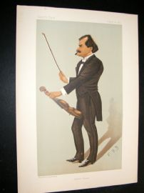 Vanity Fair Print 1895 Edward Strauss, Music